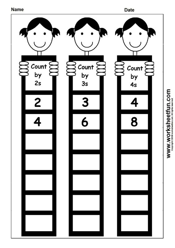 Skip Counting by 2, 3 and 4 - 1 Worksheet | school | Pinterest ...