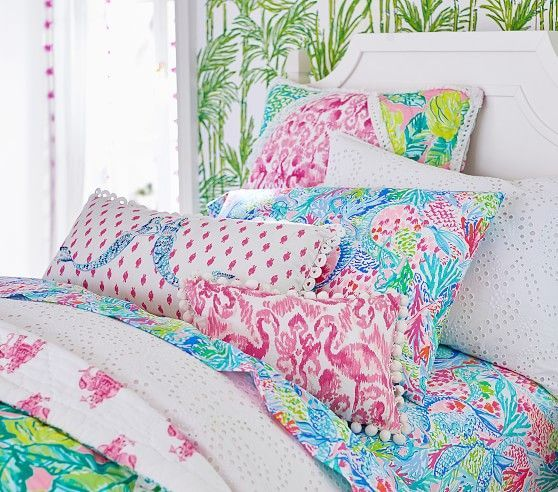 Lilly Pulitzer Organic Mermaid Cove Sheet Set Beach Cottages