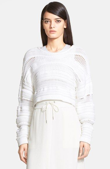 Helmut Lang Loose Knit Crop Sweater available at #Nordstrom