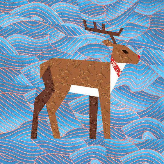 paper piecing reindeer