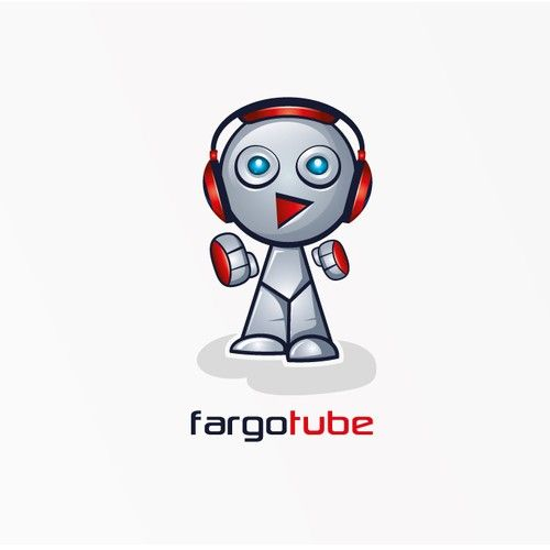 cool robot character for music tube website