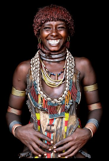 Ancho, from the Hamar tribe,Omo Valley, Ethiopia  by John Kenny