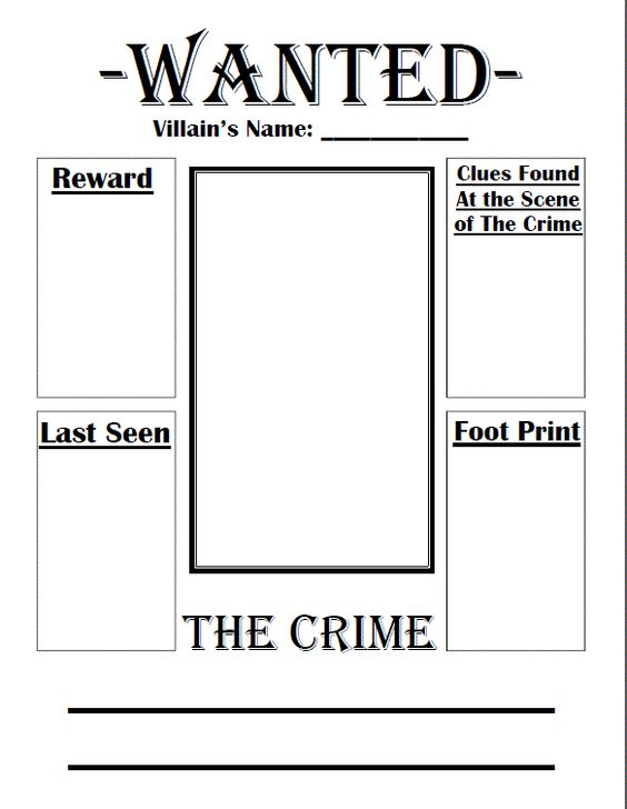 Blank Wanted Poster Template Ks1 Image Gallery - Hcpr