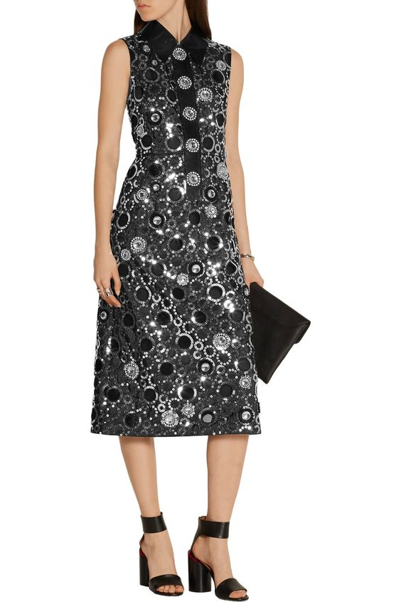 Shop on-sale Marc Jacobs PVC-trimmed embellished shell midi dress. Browse other discount designer Dresses & more on The Most Fashionable Fashion Outlet, THE OUTNET.COM