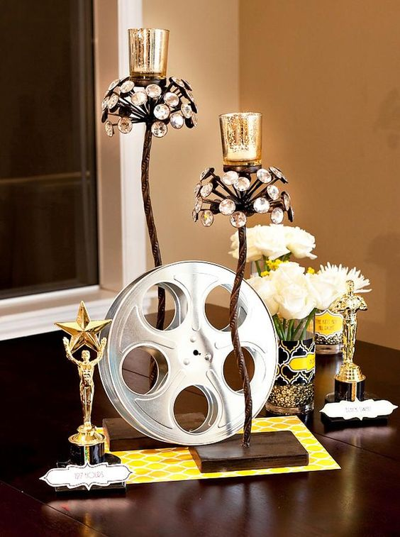 vases with black or gold ribbon glued around the center: