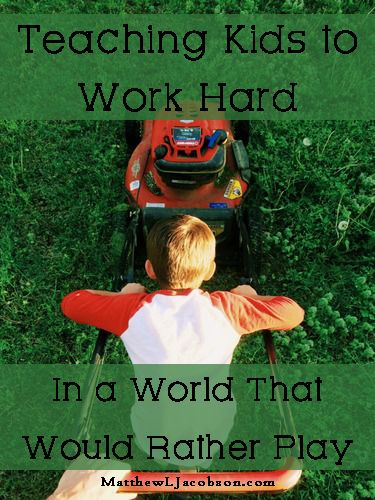 You can't separate hard work and good character. They go together. Teaching Kids to Work Hard - Matthew L. Jacobson