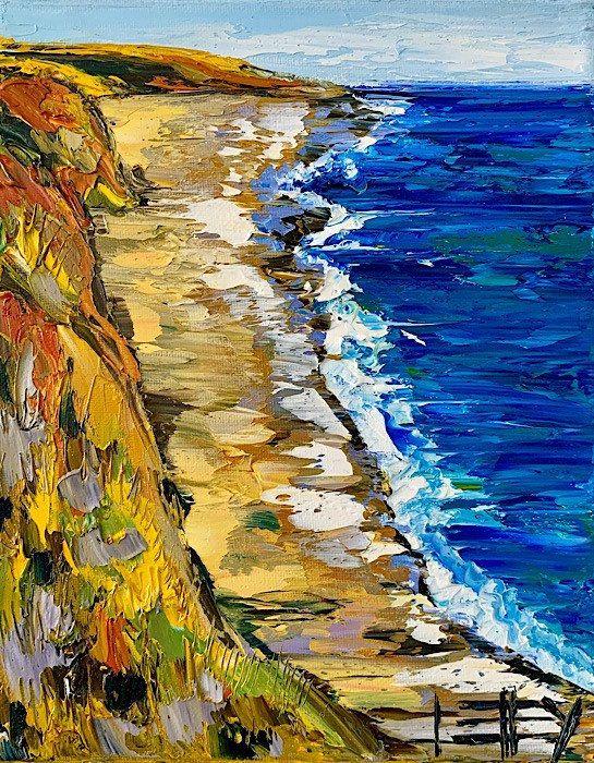 Coastal Art Beach Decor Seascape Art Beach Print Landscape Print Beach Art California Landscape Pacific Ocean Coastal Decor