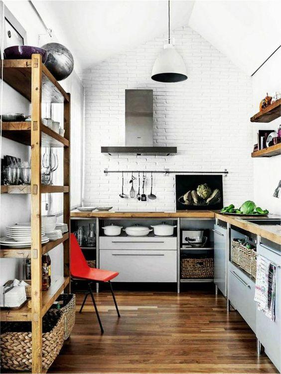 wohniden die kleine k che gut organisieren offene. Black Bedroom Furniture Sets. Home Design Ideas