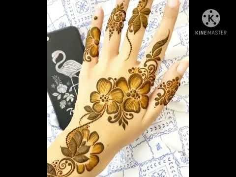 نقش حناء جميل وانيق للمناسبات Youtube Henna Hand Tattoo Hand Henna Hand Tattoos