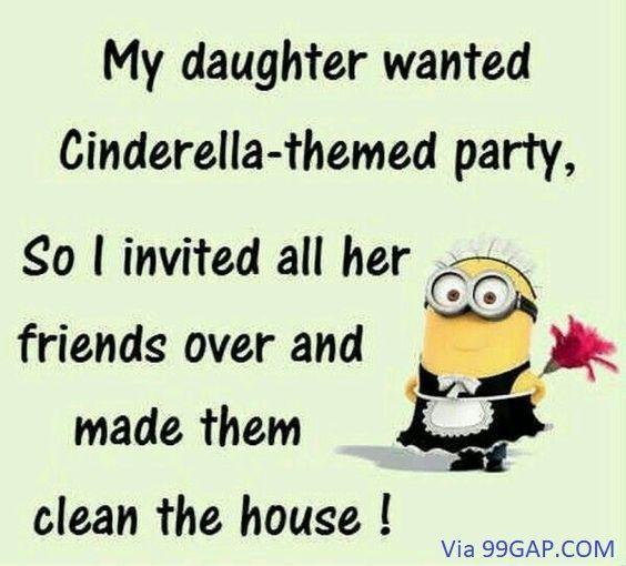 Lol Funny Minion Joke Friends Vs Cleaning Cleaning Friends Funny Joke Lol Minion Funny Minion Quotes Minions Funny Funny Minion Memes
