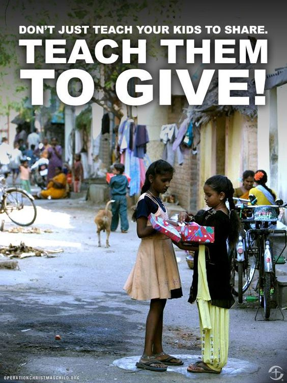 Teach your kids to give! They can learn when they are young and do the same when they get old