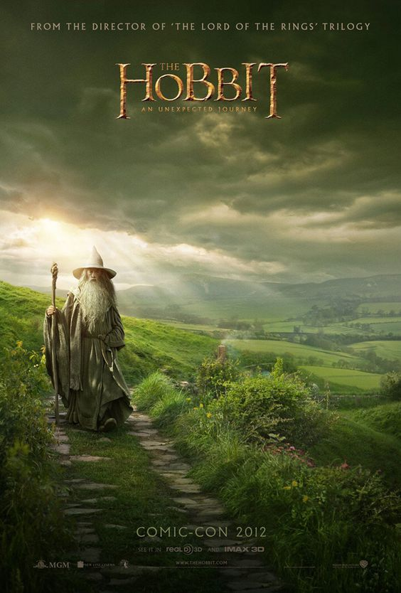 Peter Jackson Unveils New Poster for The Hobbit  I think they're now finished filming!!: Unexpected Journey, Hobbit Movie, Movies Tv, Comic Con, Movie Poster, Middle Earth, Hobbit Poster, Favorite Movie
