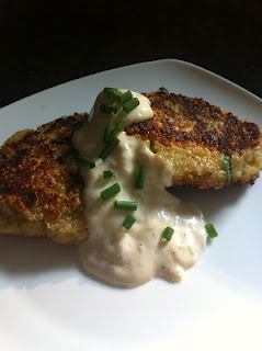 I AM WOMAN, Watch me cook!: Crispy Quinoa Pancakes with Roasted Garlic Aioli