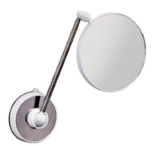 Miroir salle de bains - Miroir grossissant x6 - Double face - Incassable à ventouse