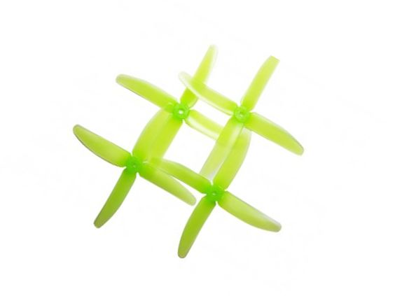 RaceKraft 5 inch 5045 Tri-Blade racing quad Propellers Set of 4 Green Clear