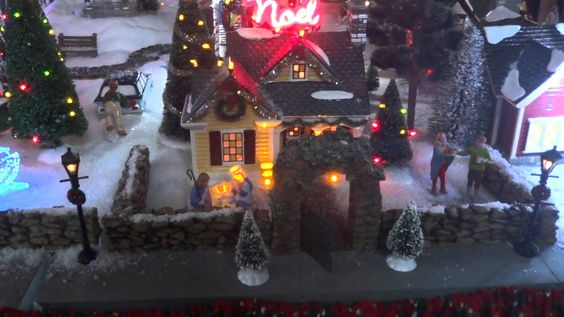 Christmas Village 2014 - Dept 56 Christmas Lane houses and Lemax/Dept 56 accessories