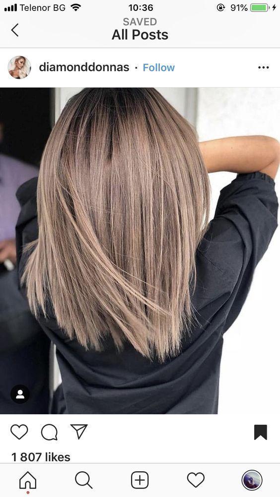 Haare schulterlang glatt