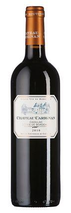 Château Carignan 2010: Bouquet mit reichhaltiger Fruchtfülle aus dunklen Beeren und Konfitüre, Geschmack mit viel reifer Frucht und samtigen Gerbstoffen.