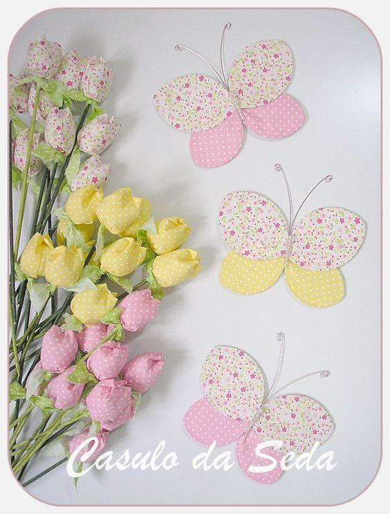 Flores de Tecido Com Meia de Seda | Artesanato - Cultura Mix