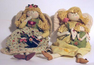 Camelô Presentes: Bonecas de Pano Anjo
