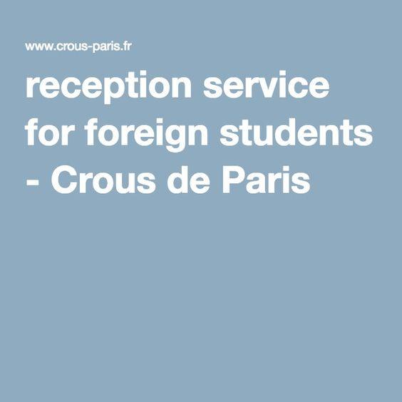 reception service for foreign students - Crous de Paris