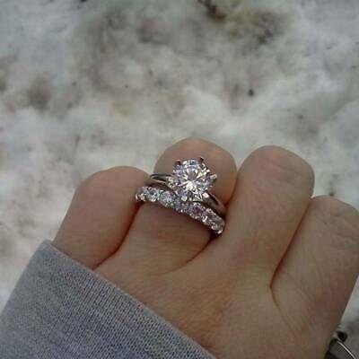 1.75 Ct Pear Cut Diamond 14k Yellow Gold Over Engagement Wedding Bridal Ring Set