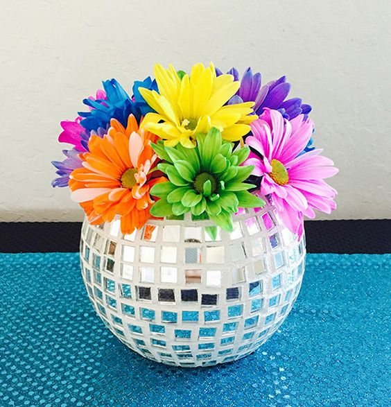 Disco Ball Party Decorations: You Can Create This DIY Disco Ball Vase For Your Studio 54