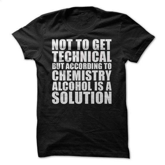 Alcohol is a solution T Shirt, Hoodie, Sweatshirts - vintage t shirts #tee #clothing