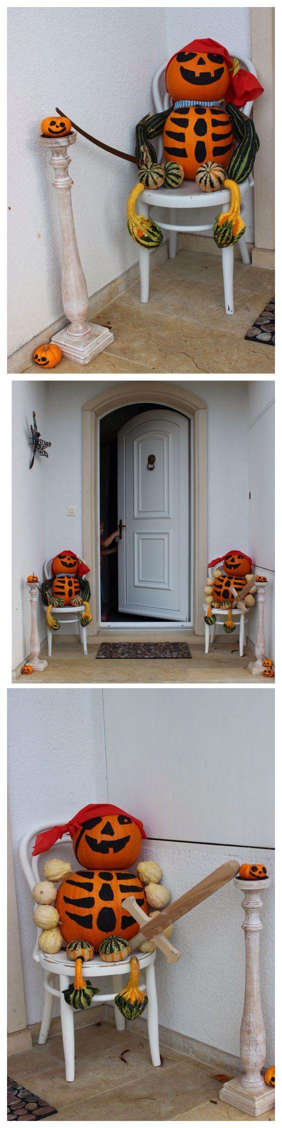 Halloween décoration...pirates-citrouilles www.pinterest.com ...