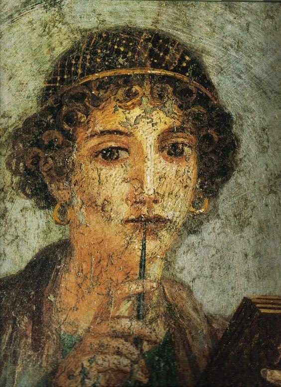 La Poetisa, Safo, procedente de Pompeya (siglo I a.C., Nápoles, Museo Arqueológico Nacional)