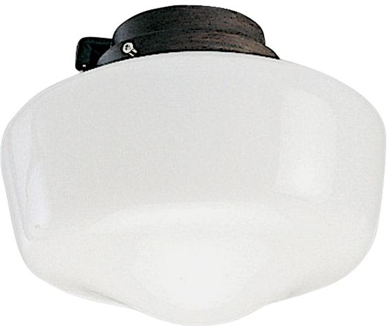 0-031889>1-Light Ceiling Fan Light Kit Copperstone
