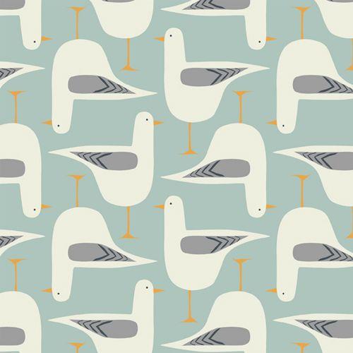 textile pattern - seagull