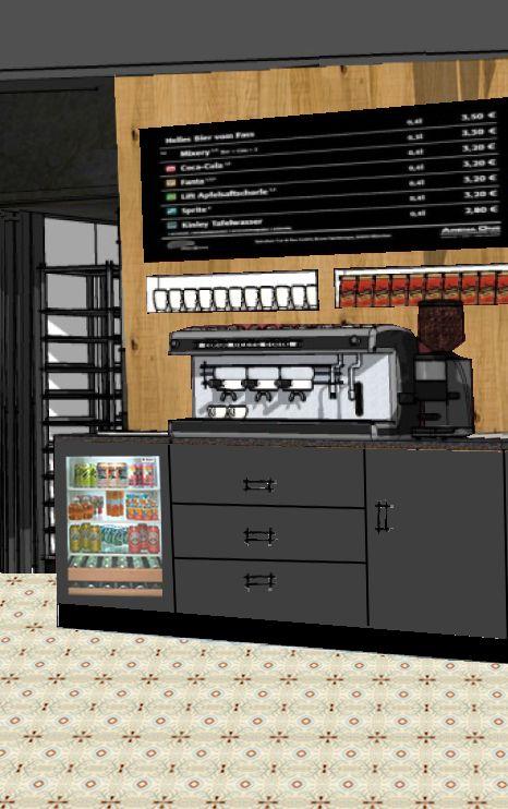 Kaffeebereich Anmutung