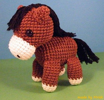 Amigurumi horse that could be a unicorn if only it had a ...