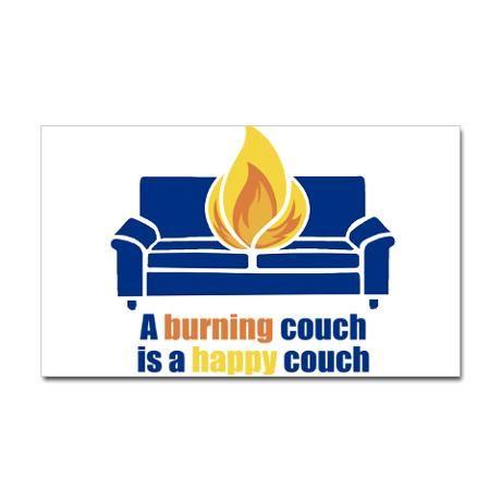 Happy Couch Sticker (Rectangular) $5