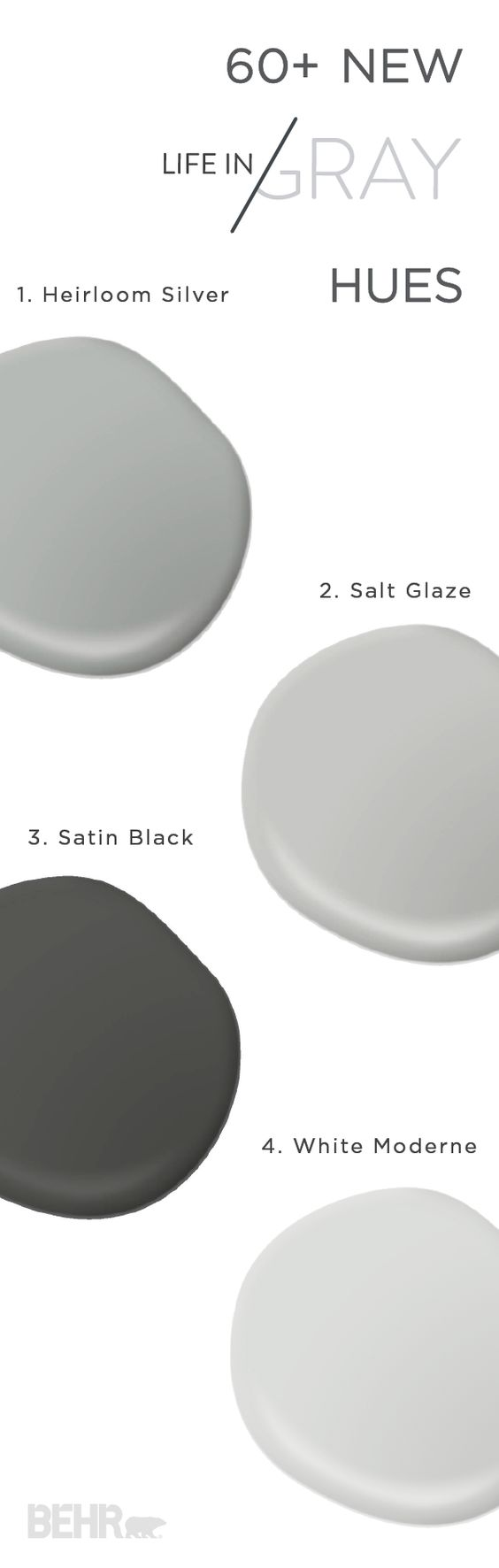 New life Paint combinations and Gray on Pinterest
