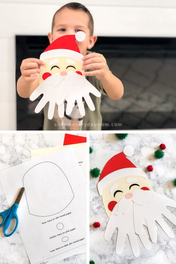 Atividades DIY para as férias de Natal - Pai Natal | Criança