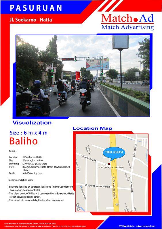 Pasuruan, Jl. Soekarno-Hatta - Baliho 6x4