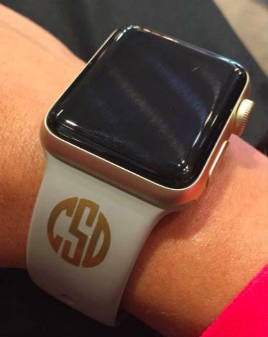Monogram Your Apple Watch Vinyl Monogram Decals Personalize Your Band Applewatch Applewatch Watch Apple Phone Case Decals Apple Watch Monogram Decal