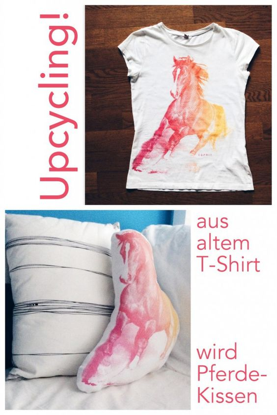 upcycling kissen n hen aus altem t shirt anleitung. Black Bedroom Furniture Sets. Home Design Ideas