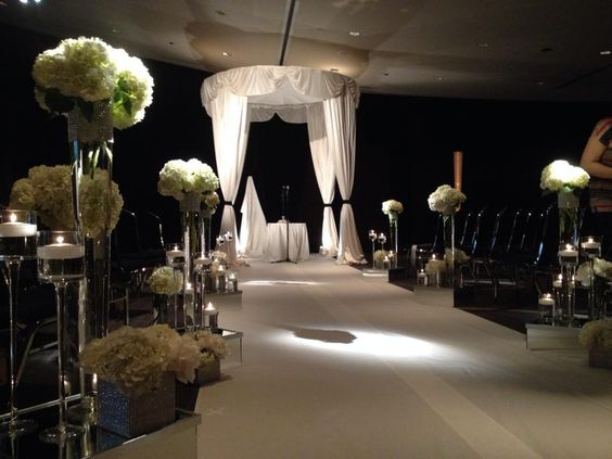Artquest, Ltd chuppah and aisle design for The Sofitel Hotel in Chicago, IL.   Check out artquestltd on Facebook and Instagram for more!