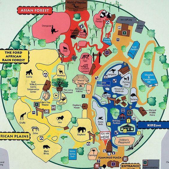 Zoo Atlanta map  Favorite places  Pinterest  Zoos