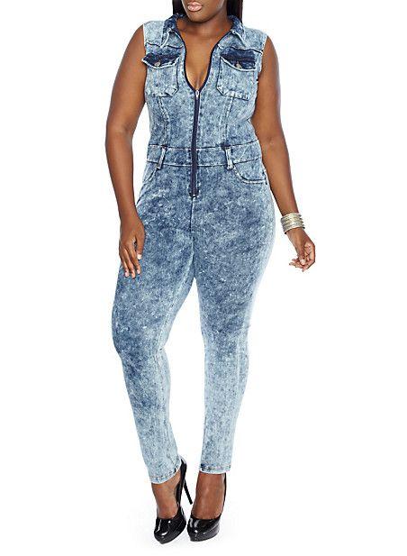plus size zipper dress jumpsuit