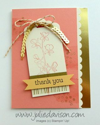 Happy Watercolor Thank You Tag Card by juls716 - Cards and Paper Crafts at Splitcoaststampers