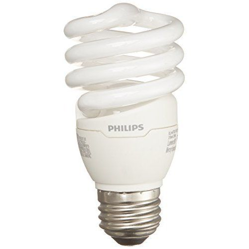 Philips 417071 Energy Saver Compact Fluorescent 13 Watt T2 Soft White Twister Household Light Bulb 4 Pack Energy Saver Light Bulbs Energy Saver Light Bulb