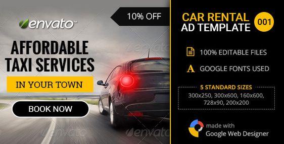 Download Free Car Rental\/Service Banner - 001 # car #car ad - car rental agent sample resume