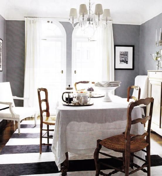Gray French Country Dining Room. Love That You Can See The