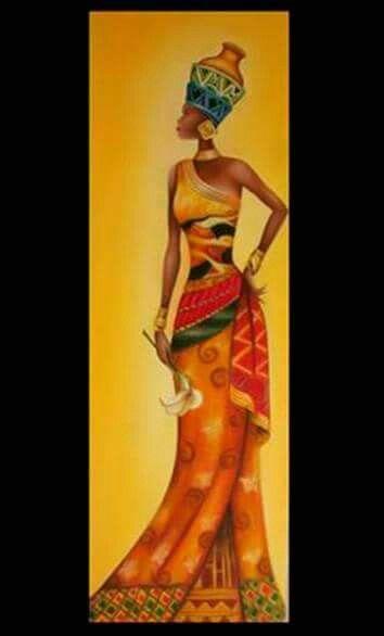 Óleo sobre tela - Africana2 RL