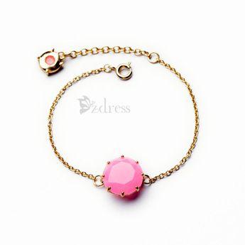 Fashion Gem Embellished Alloy Bracelet For Women
