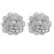 Gamma Phi Beta carnation earrings